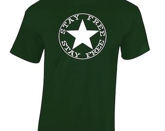 The Clash Inspired Joe Strummer T-Shirt Stay Free Men's T-Shirt