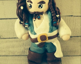 Captain Jack Sparrow Jack Sparrow Polymer Clay Miniature Captain Jack
