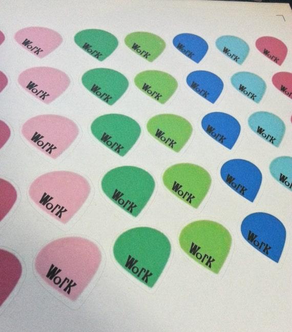Items similar to Work teardrop stickers for Erin Condren ...