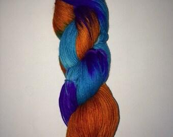 Hand Dyed Sock Yarn - Desert Phlair