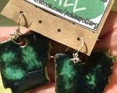 Arkansas Earrings Emerald Greens