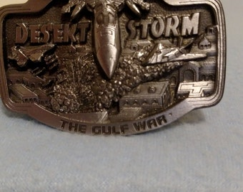Desert storm belt buckle