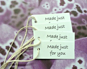 50 Made just for you tags jewelry tags gift tags mini tags hang tags price tags product tags labels simple seller supplies merchandise tags