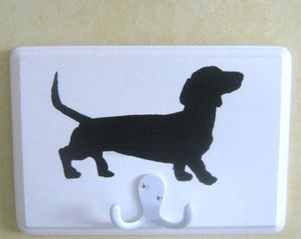 Dog Leash Holder, Double Leash Holder, Wall Leash Holder Dachshund