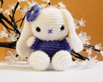 Crochet bunny rabbit with flower. amigurumi. Easter 2015