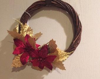 Handmade Artificial Mini Holiday Wreath