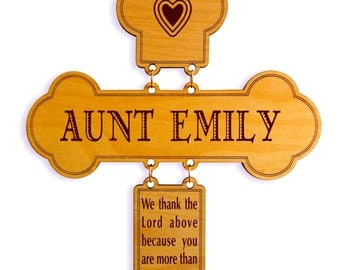 Awesome Aunt Wall Cross Gift, Personalized Gift for Auntie from Niece-Nephew, Great Aunt Mothers Day-Birthday-Christmas Custom Gift.