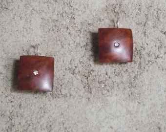 madrona Burl earrings