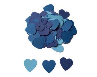 100 Blue Heart Confetti, Wedding Confetti, Die Cut Hearts, Boy Baby Shower, Blue Hearts, Bridal Shower, Wedding Shower, Throw Confetti