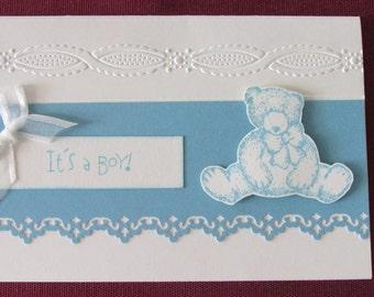 Baby Boy Birth card.