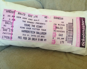 Turn your memorable concert ticket, movie ticket, travel stub etc into a beautiful, unique piece of home decor.