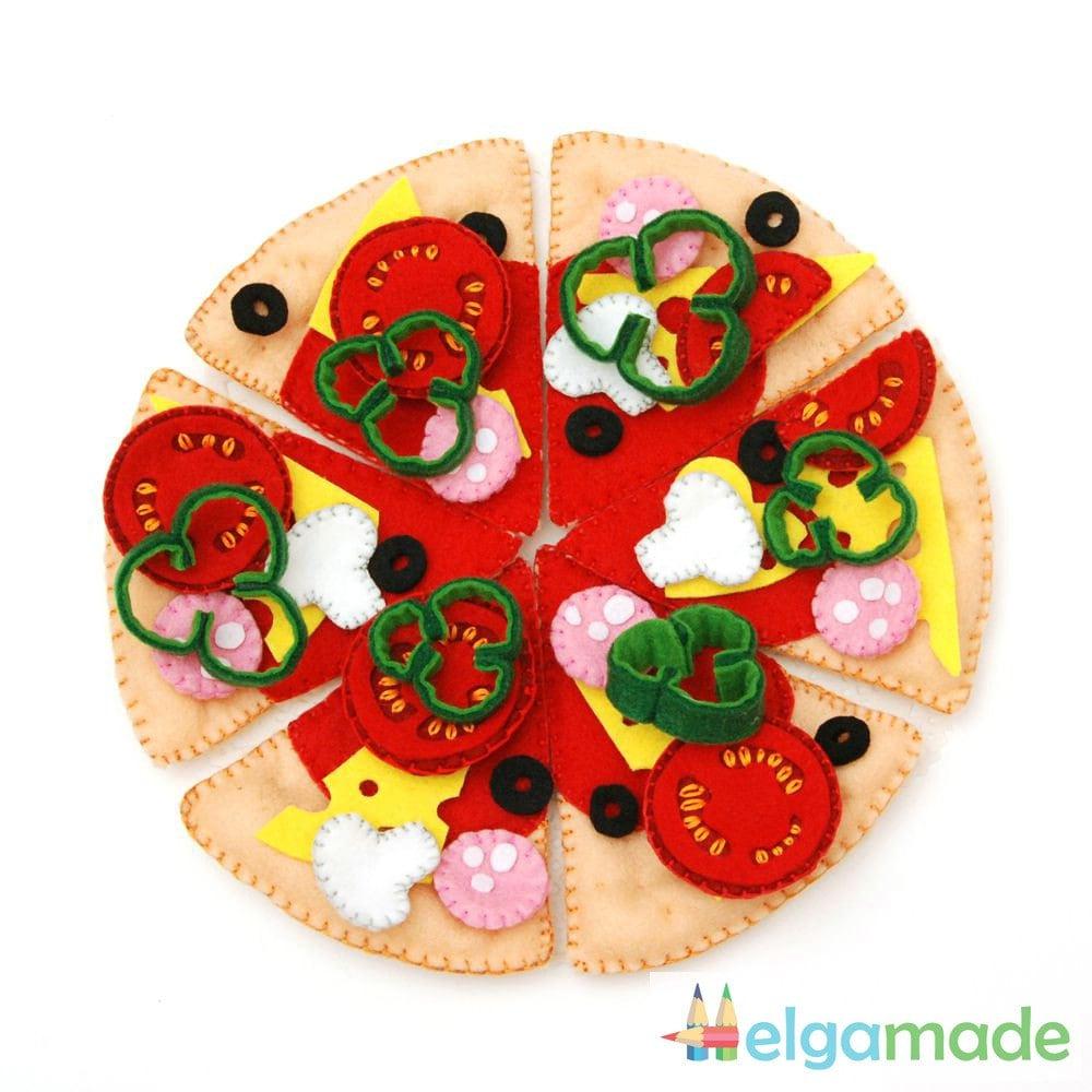 Felt Food Toys R Us : Ready to ship felt pizza set food children s