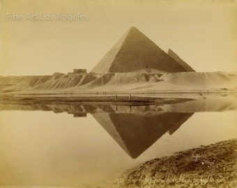 Felix Bonfils Photo, landscape of Giza, 1870s
