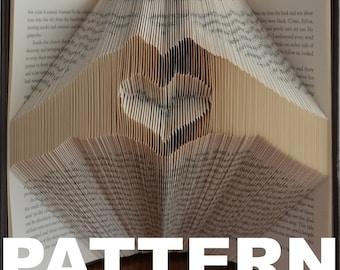 Book Folding Pattern - Heart in Hands + Free Instructions
