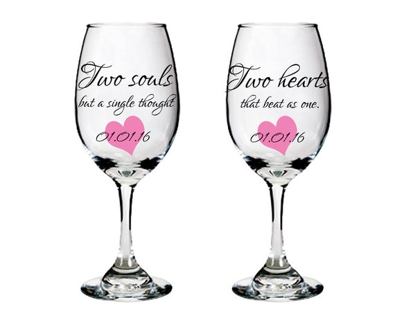 wine glasses with sayings bride and groom wine glasses