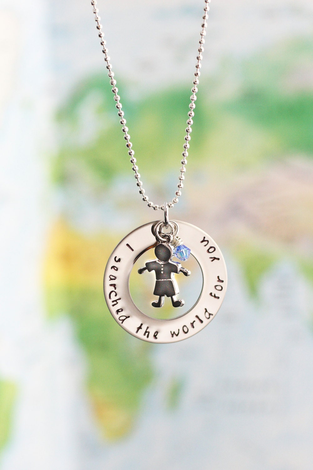 Hand stamped gotcha day necklace adoption necklace for How do you make hand stamped jewelry