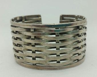 Beautiful Woven Sterling Cuff Bracelet