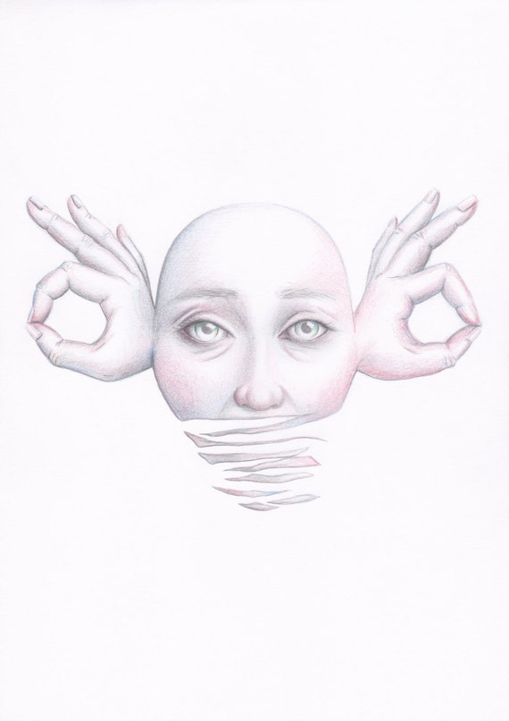 Surrealism Hands Drawing Surrealism Drawing
