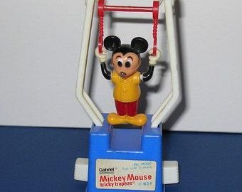 Vintage 1977 Gabriel Mickey Mouse Tricky Trapeze Toy