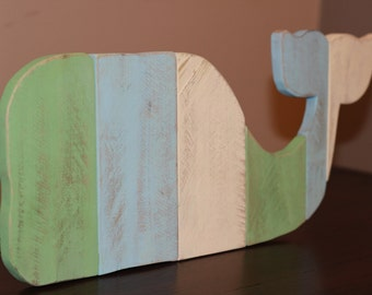 Wooden Whale - Whale Wall Art - Reclaimed Pallet Whale