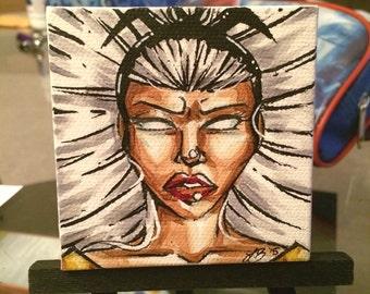 X-Men Storm Mini Painting