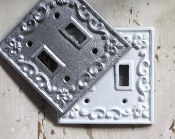 Cast iron switch plate cover etsy - Wrought iron switch plate covers ...