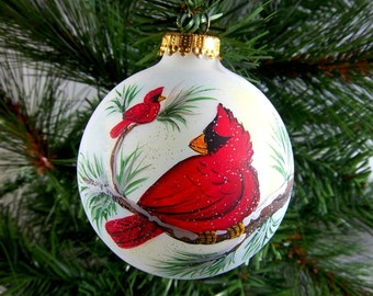Cardinal ornament | Etsy