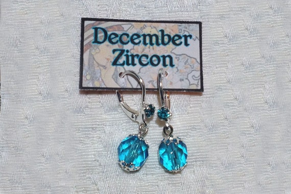 December Birthstone Earrings Zircon