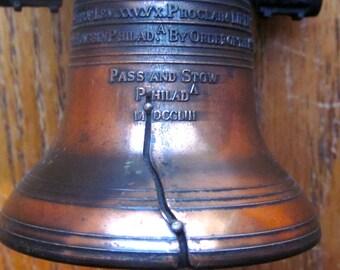 Vintage Cast Metal Liberty Bell 1970 Era Souvenir