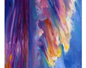 Sale ORIGINAL PAINTING 5x5 Impressionistic Beach Sunset Art