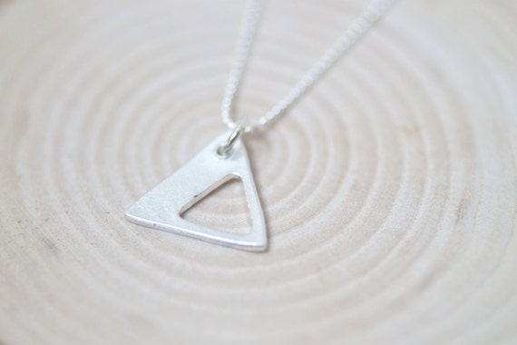 equilateral necklace - triangle necklace - triangle charm - triangle jewelry - silver triangle necklace - sterling silver triangle necklace
