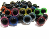 10 Pair of Assorted Glitter Craft Eyes - You choose the size!