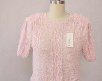 NWT pink ribbon blouse vintage