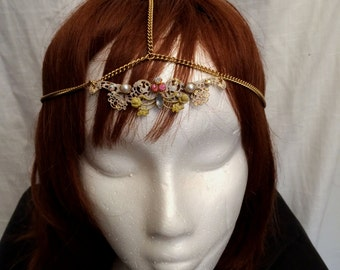 Handcrafted Bellydance Burlesque Flapper Headdress Head Chain Aphrodite 2