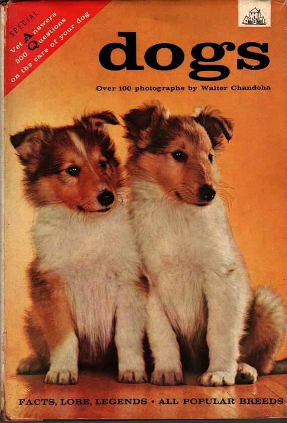 Dogs Facts Lore Legends - Dan Senseney - Walter Chandoha, photographer - 1957 - Vintage Book