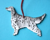 English Setter - Handpainted Wood Ornament Decoration
