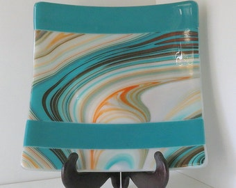 Dinning & Entertaining, Fused Glass Dish, Southwest Colors, Statteam