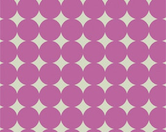 1/2 yard  Mod  Dot in Orchid by Heather Bailey/ True Colors 1 yard Cotton Quilt/Apparel Fabric