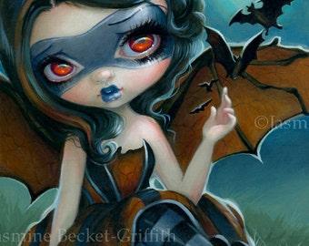 Pipistrello bat fairy art print by Jasmine Becket-Griffith 8x10 bats bat girl superhero heroine wings