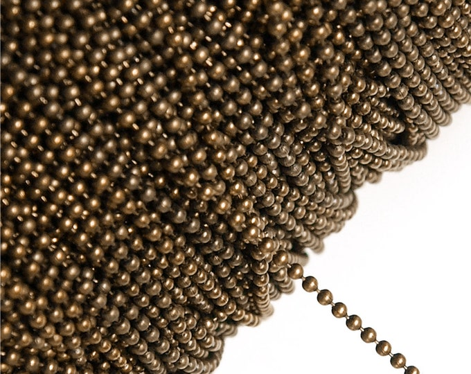 CHBAC-bl15 - Chain, Ball 1.5mm, Antique Copper - 1 Meter