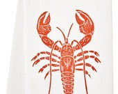 ORGANIC lobster tea towel