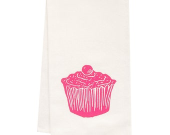ORGANIC cupcake tea towel