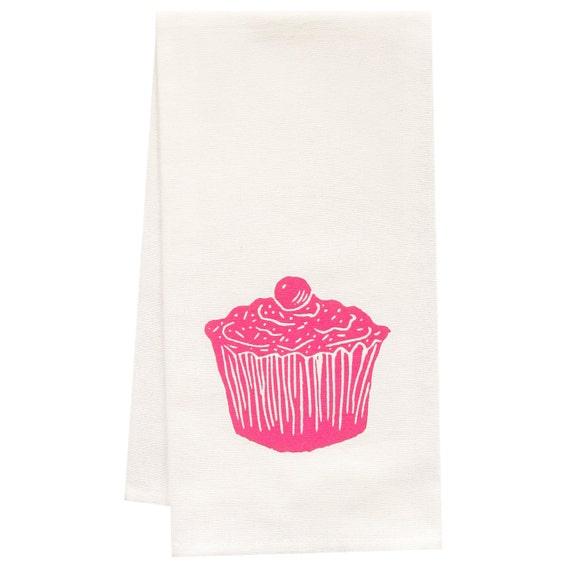 ORGANIC cupcake tea towel