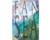Fan Sea (Fancy) 11x17 Archival Art Print Inspiration Poster