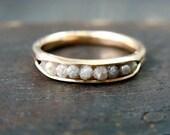 raw diamond rock candy ring