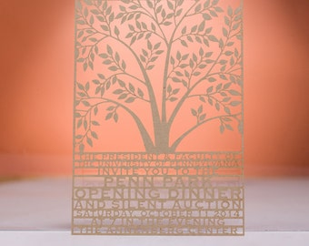 Tree Invitaton, Laser Cut