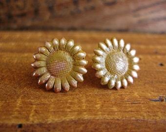 Sunflower Post Earrings