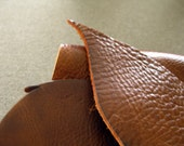 Leather scrap - half pound - Cedar brown leather