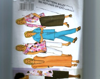 Butterick Women's Shirt, Top, Tunic, Dress, Skirt, and Pants Pattern 3039