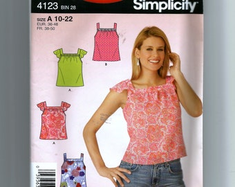 Simplicity Misses' Tops Pattern 4123